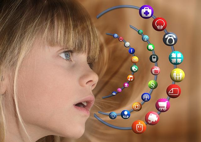 dívka, aplikace