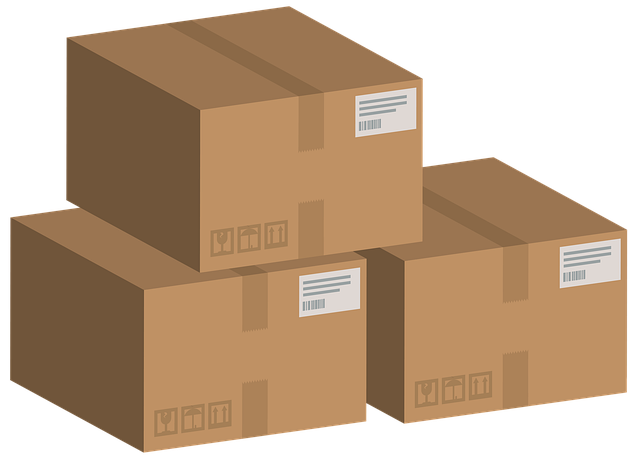 připravené krabice