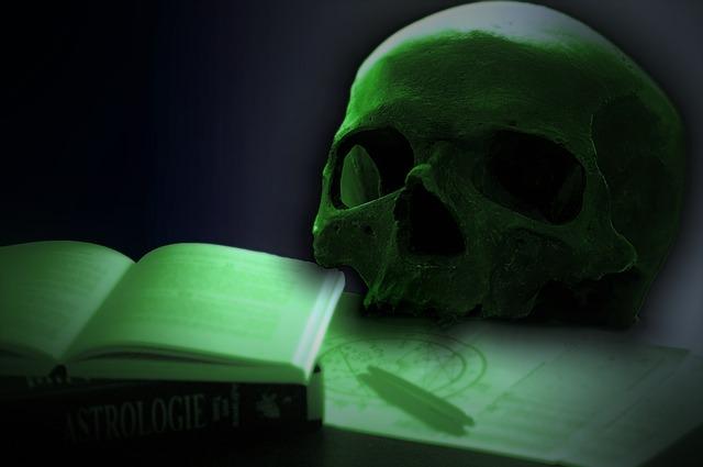 lebka a kniha